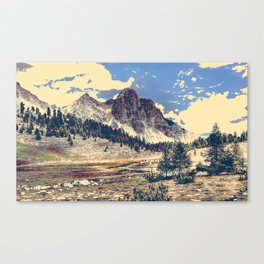 Dolomites Mountains South Tyrol Alpine Italy Travel Poster Canvas Print