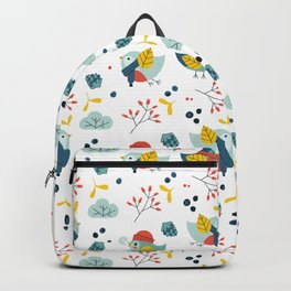 winter birds pattern Backpack
