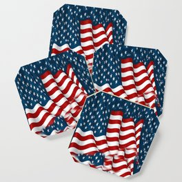 "ORIGINAL  AMERICANA FLAG ART ""STARS N' BARS"" PATTERNS Coaster"