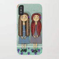twins iPhone & iPod Cases featuring Twins by ilana exelby