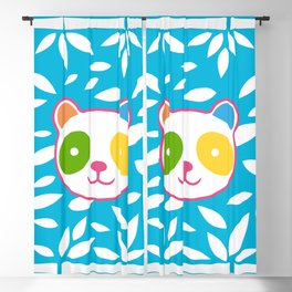 Rainbow Panda Blackout Curtain