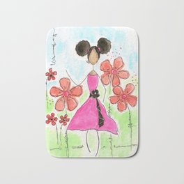 Tia, Hey Girl! Bath Mat
