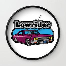 Lowrider Car Wall Clock