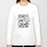 zombies Long Sleeve T-shirts featuring zombies by John MacDougall