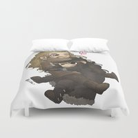 fili Duvet Covers featuring Cuddly~ by AlyTheKitten