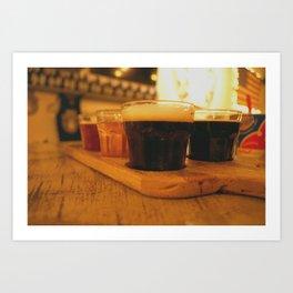 Beer Flight Print Art Print