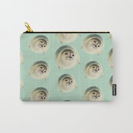 aqua green underwater cute baby sea lion seal Carry-All Pouch