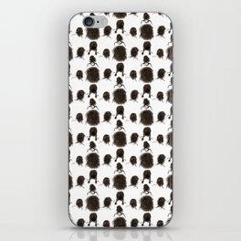 Messy dry curly hair pattern iPhone Skin