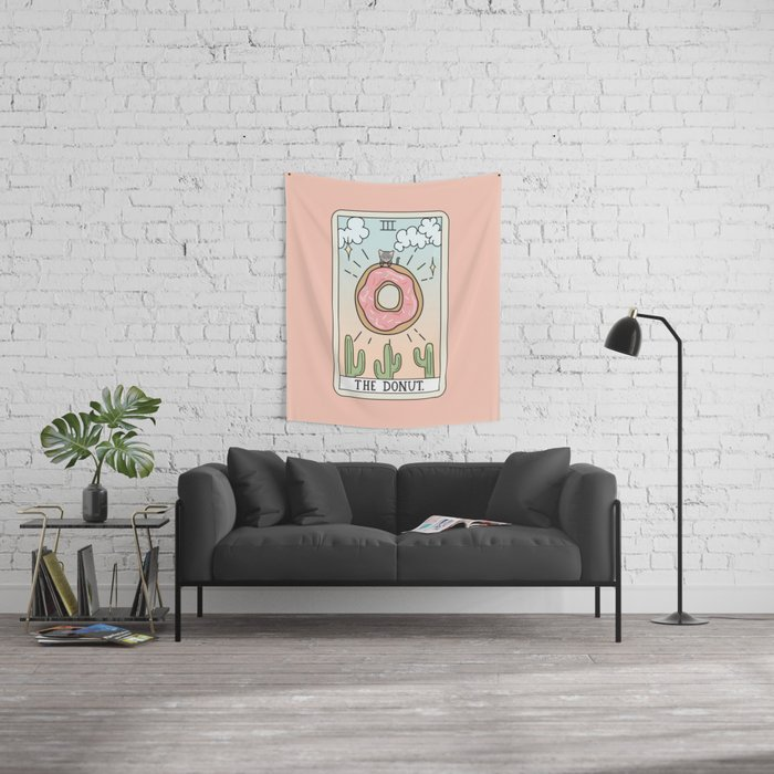 DONUT READING Wall Tapestry