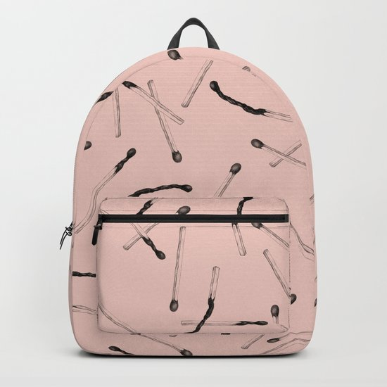 pink matches Backpack