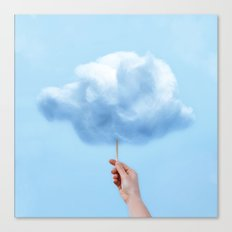 RAINY COTTON CLOUD Canvas Print