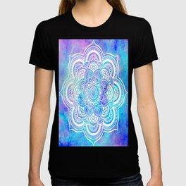 Mandala Pink Lavender Aqua Galaxy Space T-shirt