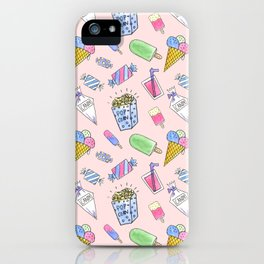 Cute pink candy and ice-cream iPhone Case
