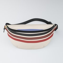 Colorful Retro Stripes Beige II Fanny Pack