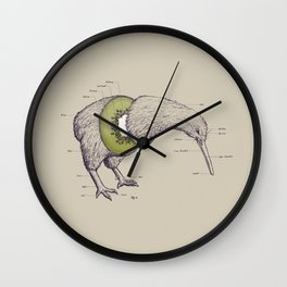 Kiwi Anatomy Wall Clock