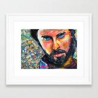 jared leto Framed Art Prints featuring Jared Leto by Ilya Konyukhov