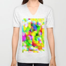 Re-Created Laurels IX by Robert S. Lee Unisex V-Neck
