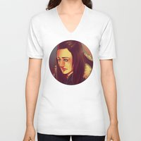 jem V-neck T-shirts featuring In the Flesh - Jem Walker by SandraG.N.