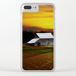 Barn at sunset Clear iPhone Case