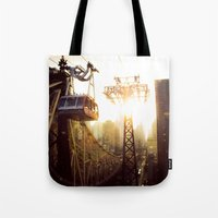 hook Tote Bags featuring Hook, Line & Sinker by Phil Provencio