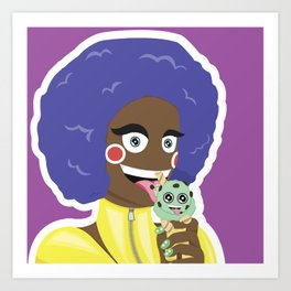 Ice Cream Girl Art Print