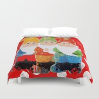 gnome Duvet Covers featuring Gnome by BLOOP