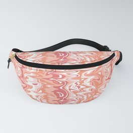 Marbled Coral, Salmon, Peach and Pink Fanny Pack