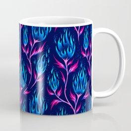 Fire Flower - Blue Pink Coffee Mug