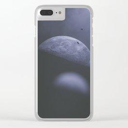 satellites Clear iPhone Case