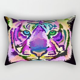 popart tiger Rectangular Pillow