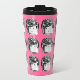 Minifigure Pattern - Pink Travel Mug