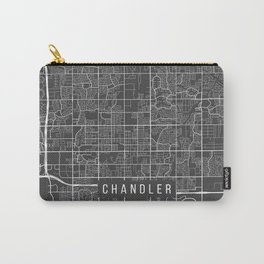 Chandler Map, Arizona USA - Charcoal Portrait Carry-All Pouch