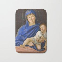 """Giovanni Bellini """"Madonna with the child"""" (1) (ca 1476) Bath Mat"""
