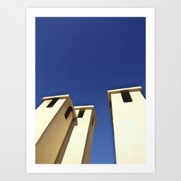 Blue sky, Morocco Art Print