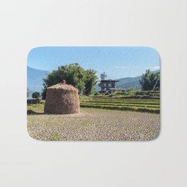 Bhutan: Agricultural landscape Bath Mat
