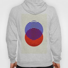 Graphic abstract circles Hoody
