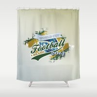 football Shower Curtains featuring Football  by ArtAngelo
