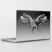 falcon Laptop & iPad Skins featuring Ornate Falcon by BIOWORKZ