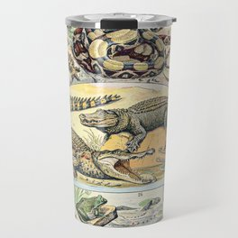 Reptiles by Adolphe Millot // XL 19th Century Snakes Lizards Alligators Science Textbook Artwork Travel Mug