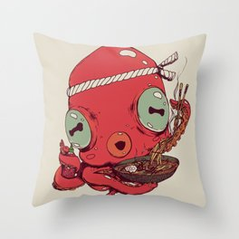 Spicy Ramen Throw Pillow