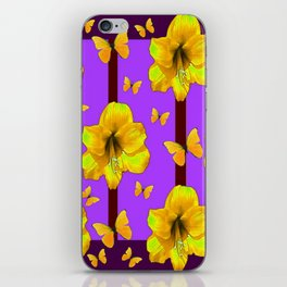FOR THE LOVE OF BUTTERFLIES PURPLE ART iPhone Skin