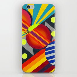 Cicles & Stripes iPhone Skin