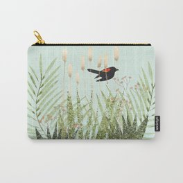 Red Winged Black Bird & Botanicals Carry-All Pouch