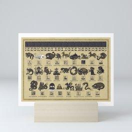 Alphabet of Sea Monsters Mini Art Print