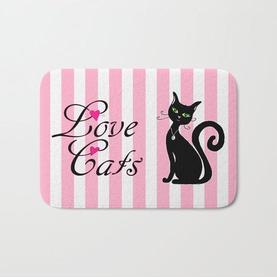 Love Cats Bath Mat