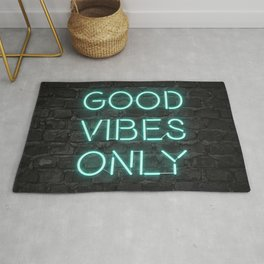Neon Good Vibes - Teal Rug