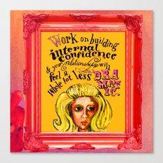 Relationship: Pink & Orange  Canvas Print