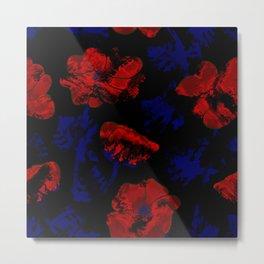 Abstract pattern . Orange poppies. Metal Print