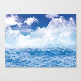 Wolken über dem Meer Canvas Print