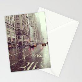 nyc street rain Stationery Cards